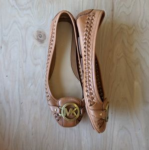 Michael Kors Fulton Woven Leather Moccasin Flats 6